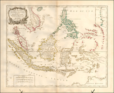 Southeast Asia, Philippines and Indonesia Map By Didier Robert de Vaugondy