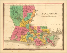Louisiana Map By Anthony Finley