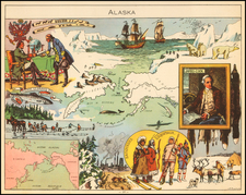 Alaska and Pictorial Maps Map By Joseph Porphyre Pinchon