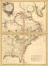 United States, North America and Eastern Canada Map By Rigobert Bonne