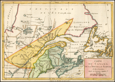 Canada Map By Michel Rene Hilliard d'Auberteuil