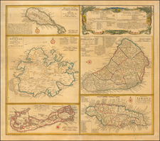 Caribbean, Jamaica, Bermuda and Other Islands Map By Homann Heirs