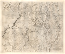 Southwest, Arizona, Colorado, Utah, New Mexico, Rocky Mountains, Rocky Mountains, Colorado and Utah Map By John N. Macomb