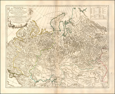 Russia Map By Gilles Robert de Vaugondy