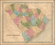 South Carolina Map By Thomas Gamaliel Bradford