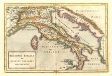 Europe and Italy Map By Christoph Cellarius
