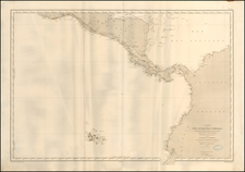 Central America, Colombia and Peru & Ecuador Map By Depot de la Marine