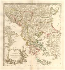 Turkey and Greece Map By Didier Robert de Vaugondy