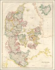 Denmark Map By John Arrowsmith