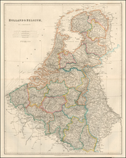 Netherlands Map By John Arrowsmith