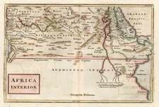 Africa, North Africa and East Africa Map By Christoph Cellarius