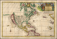 North America and California as an Island Map By Pieter van der Aa