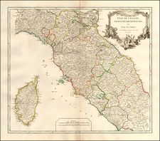 Northern Italy, Southern Italy and Corsica Map By Didier Robert de Vaugondy