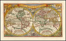 World and California as an Island Map By Adam Friedrich Zurner / Johann Christoph Weigel