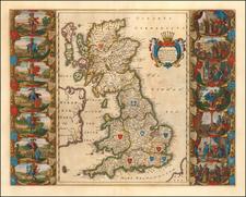 Britannia Prout Divisa fuit Temporibus Anglo-Saxonum, Praesertim Durante Illorum Heptarchia  By Willem Janszoon Blaeu