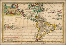 California as an Island and America Map By Pieter van der Aa