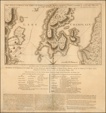 New England, Vermont and New York State Map By William Faden