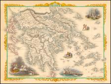 Mediterranean, Balearic Islands and Greece Map By John Tallis