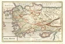 Europe, Turkey, Mediterranean, Asia, Turkey & Asia Minor and Balearic Islands Map By Christoph Cellarius