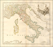 Italy Map By Didier Robert de Vaugondy