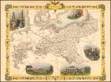 Germany and Baltic Countries Map By John Tallis