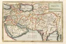 Asia, India, Southeast Asia, Central Asia & Caucasus and Middle East Map By Christoph Cellarius