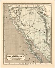 Southwest, Arizona, Utah, Nevada, Rocky Mountains, Utah, Baja California and California Map By Sidney Morse  &  Samuel Breese