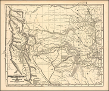 Texas, Plains, Southwest and Rocky Mountains Map By Josiah Gregg