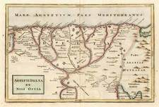 Asia, Middle East, Africa and North Africa Map By Christoph Cellarius
