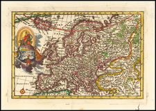 Europe Map By Adam Friedrich Zurner / Johann Christoph Weigel