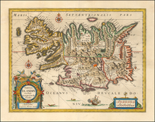 Iceland Map By Willem Janszoon Blaeu