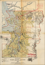 Washington Map By Bellingham Bay Abstract & Title Insurance Company.