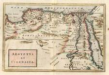Asia, Middle East, Holy Land, Africa and North Africa Map By Christoph Cellarius