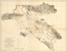 California and Los Angeles Map By U.S. Coast & Geodetic Survey