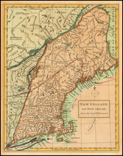 New England Map By Richard William Seale