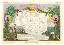 African Islands, including Madagascar Map By Victor Levasseur