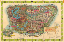 Pictorial Maps, California and Other California Cities Map By Walt Disney Productions