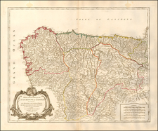 Spain Map By Gilles Robert de Vaugondy