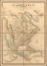Texas, Southwest, Rocky Mountains and North America Map By Adolphe Hippolyte Dufour