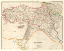 Cyprus, Central Asia & Caucasus and Turkey & Asia Minor Map By John Arrowsmith