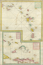 Bahamas and Other Islands Map By Depot de la Marine