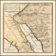 Mexico, Baja California, California and California as an Island Map By Fr. Eusebio Kino