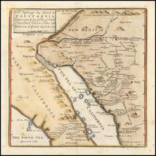 Mexico, Baja California, California and California as an Island Map By Fr. Eusebio Kino