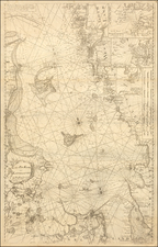 Sweden and Denmark Map By Christian Carl Lous