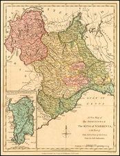 Northern Italy and Sardinia Map By Robert Wilkinson