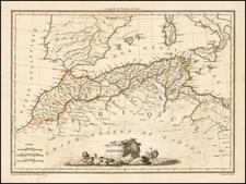 North Africa Map By Conrad Malte-Brun