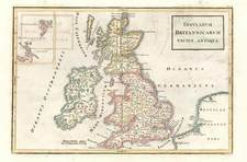 Europe and British Isles Map By Christoph Cellarius