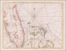 Florida and Bahamas Map By Thomas Jefferys