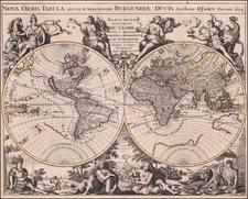 World Map By Alexis-Hubert Jaillot