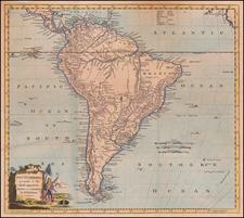 South America Map By George Augustus Baldwyn